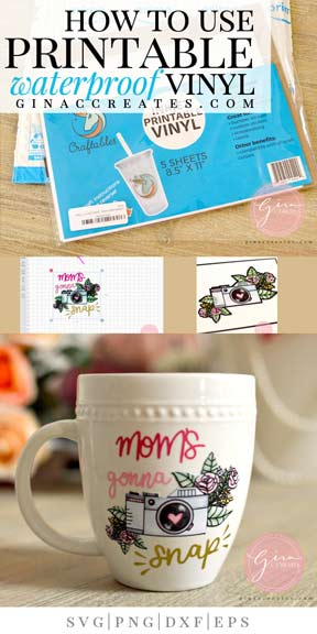 photo relating to How to Use Printable Vinyl titled How toward employ the service of Printable Water-proof Vinyl upon a mug Gina C. Generates