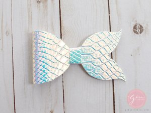 mermaid tail hair bow
