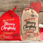 santa sack, santa's red gift bag free svg