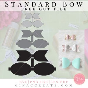 faux leather diy hair bow template