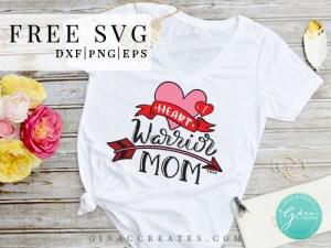 chd mom svg, heart warrior mom free svg