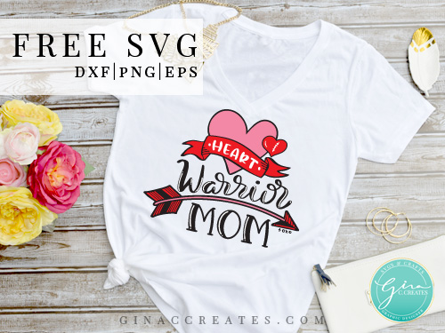 chd mom svg, heart warrior mom free svg