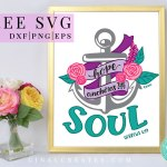 Hope anchors the soul free svg, christian shirt, Hebrews bible versus