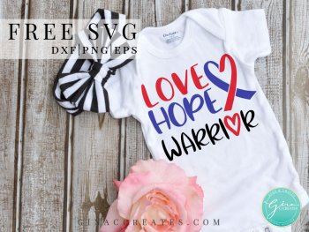 heart warrior svg, love hope chd warrior free svg