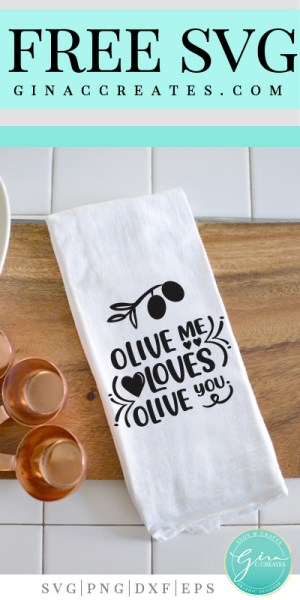 Download Olive Me Loves Olive You | Free SVG Cut File - Gina C. Creates