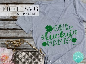 st. patrick's day t-shirt ideas, one lucky mama free svg