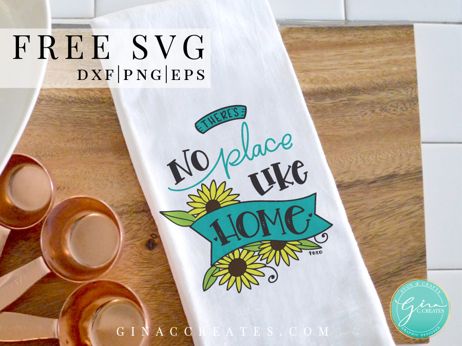 no place like home free svg, kitchen towel cricut ideas