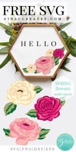 free spring flower svg, floral svg cut files