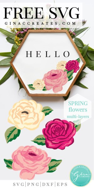 free spring flower svg, floral svg cut files