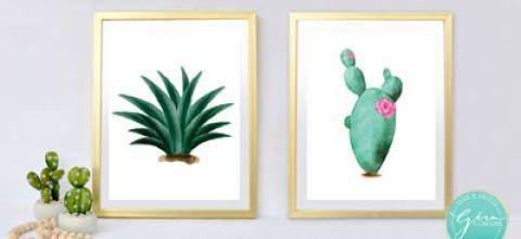Cactus Wall Art | Free Printable