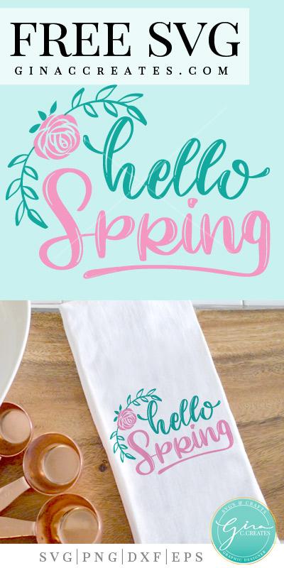 hello svg, spring svg, rose svg, spring crafts