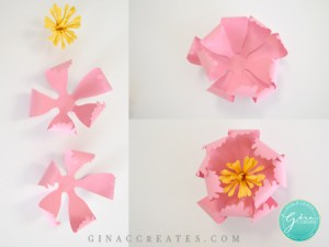 how to assemble a peony paper flower