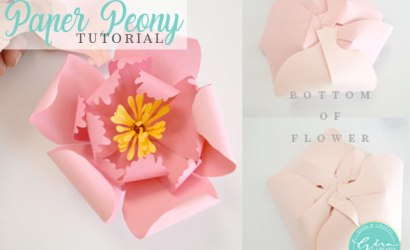 How to make a Peony Paper Flower | Tutorial