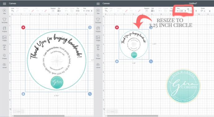 how to use print and cut in cricut design space resize