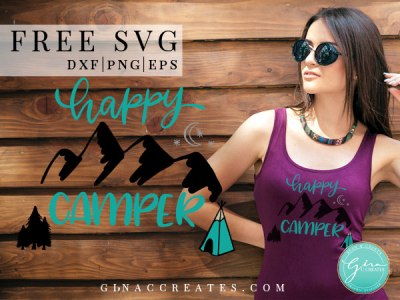free happy camper svg, camping svg, nature svg