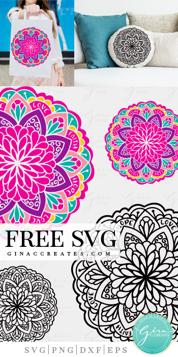 cricut pillow idea, free mandala svg