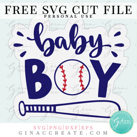 baby shower boy baseball free svg