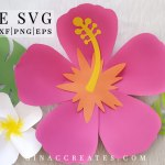 free Hawaiian Paper flower SVG and template