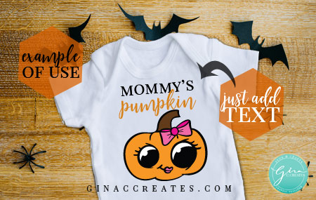 baby's halloween shirt idea, free pumpkin svg