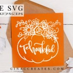 free svg thankful pumpkin fall crafts