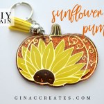 sunflower pumpkin key chain fall cricut crafts