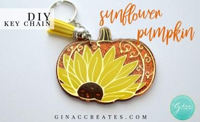 DIY Pumpkin Sunflower Key Chain