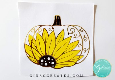 sunflower pumpkin svg decal for layering