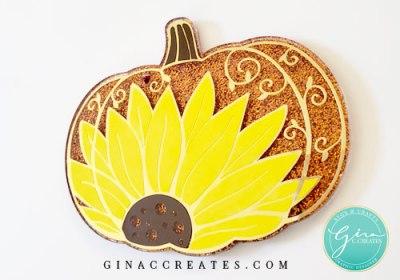 sunflower pumpkin key chain DIY