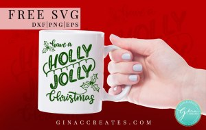 holly jolly christmas free svg