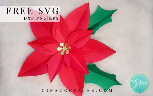 How To Make A Paper Flower Poinsettia Gina C Creates