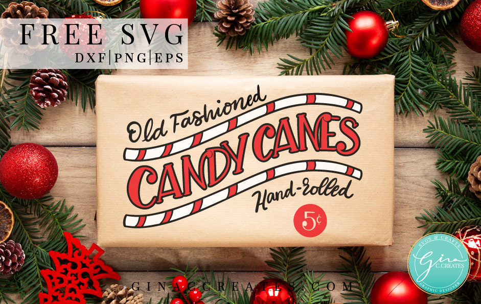 Candy Cane Free SVG, Christmas Crafts
