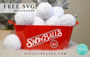 Free SVG snowballs 25 cents, Christmas crafts