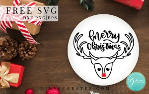 merry christmas free svg, reindeer free svg