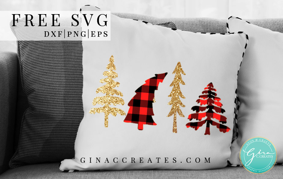 free christmas tree svg buffalo plaid tree shirt