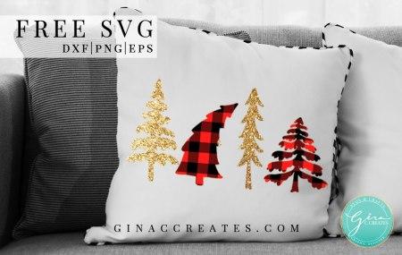 free christmas tree svg buffalo plaid tree shirt