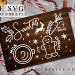 free svg santas milk and cookies tray