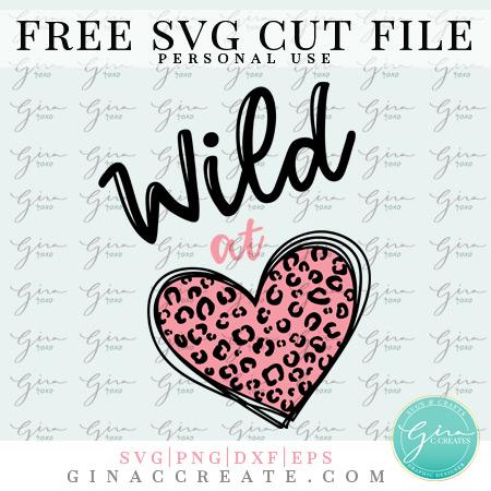 wild at heart valentine's day leopard print free svg