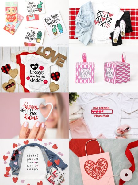free Valentine's Day SVG cut files crafts