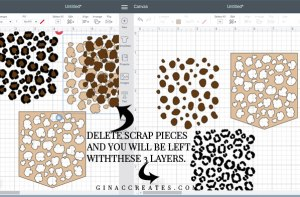 how to make a leopard pocket with a cricut machine