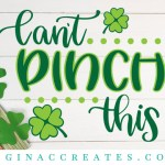 free svg st. patrick's day can't pinch this