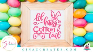 lil miss cotton tail easter shirt free svg cut file