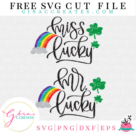 st. Patrick's day free svg Mr. & Miss. lucky svg