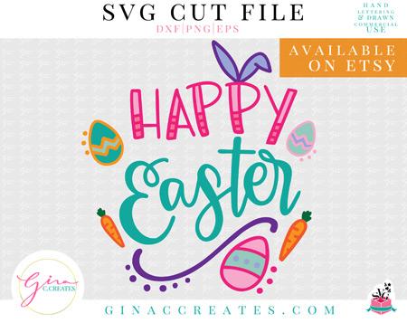 Happy Easter SVG Bundle on etsy