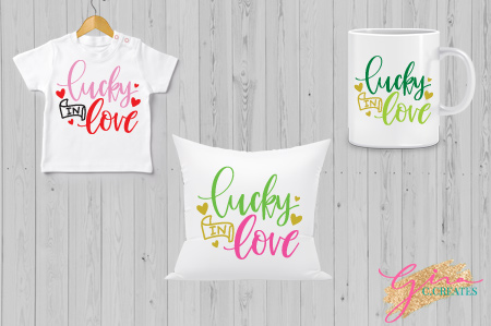 lucky in love holiday free svg