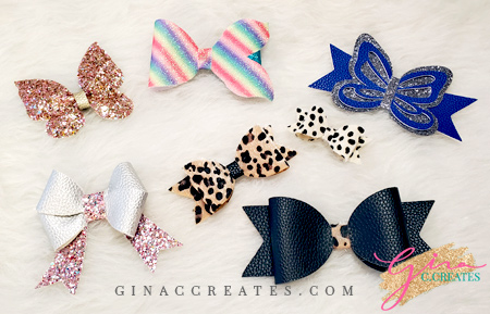 how to make faux leather bows with your cricut free svg