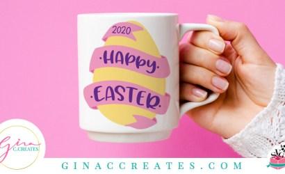 Happy Easter Egg Free SVG Cut File