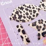 cricut design space how to make hair bows, leopard hair bow DIY