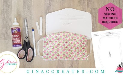 No Sewing Machine Face Mask Tutorial with Free Pattern