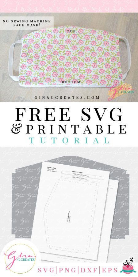 No Sewing Machine Face Mask Tutorial With Free Pattern Gina C Creates