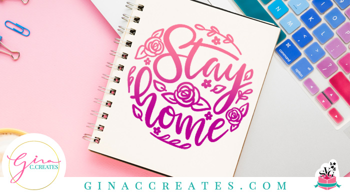 Stay home floral circle free svg covid 19 free svg